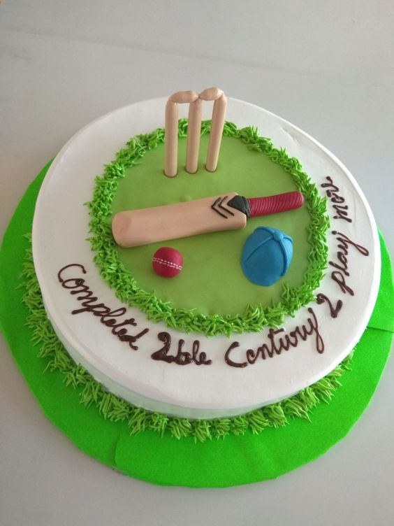 cricket theme cake
